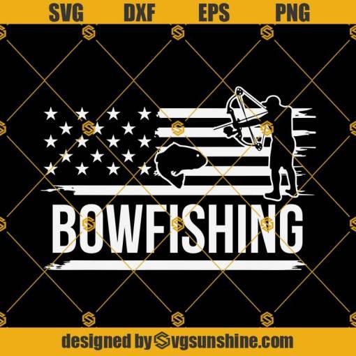 Bow Fishing USA Svg, Bowfishing Fishermen Svg
