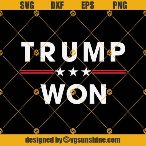 Trump Won Save America SVG, Trump 2024 SVG, Donald Trump 2024 SVG