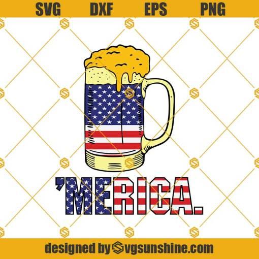 Merica Beer Fourth Of July Svg, Merica Svg, Drink Beer Svg, Beer Mug Svg, Beer Svg, Flag Svg, Fourth Of July Svg, Patriotic Svg, Military Svg
