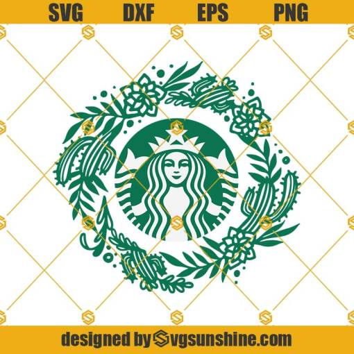 Flower Starbucks Svg, Starbucks Cup Svg, Starbucks Svg, Flower Svg