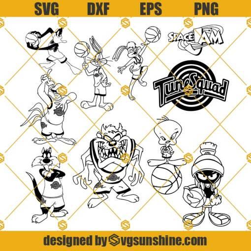 Space Jam SVG, Space jam Characters Svg, Space jam Bundle Svg Png Dxf Eps Cut Files Clipart Cricut Silhouette