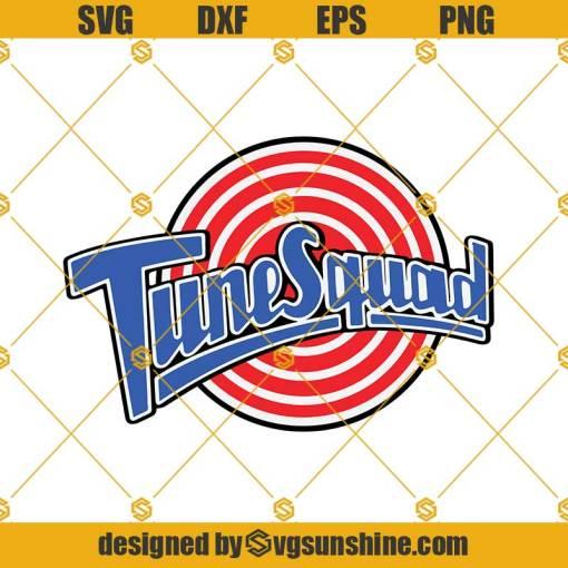 Logo Tune Squad Space Jam SVG PNG DXF EPS Cut Files Clipart Cricut Silhouette