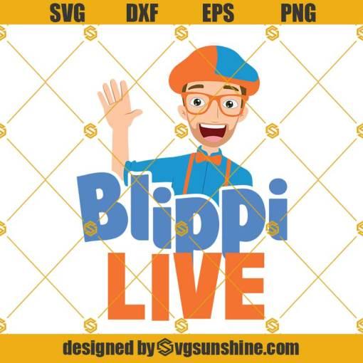 Blippi live SVG, Blippi SVG, Blippi Clipart, Blippi SVG