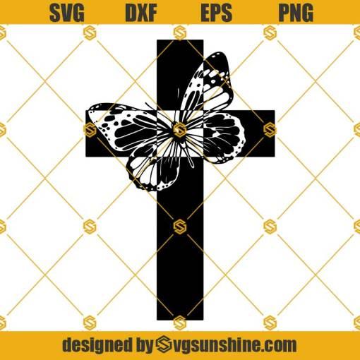 Christian Butterfly Cross SVG, Butterfly SVG, Cross SVG, Cross PNG, Cross Clipart, Butterfly Cross Clipart