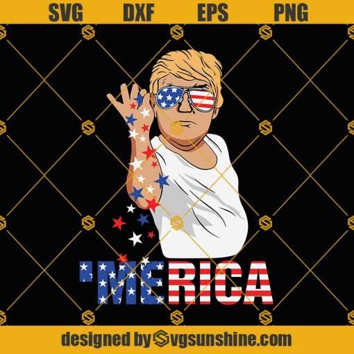 Donald Trump Merica Trump Salt Bae SVG, Funny 4th of July SVG, Merica American Flag SVG