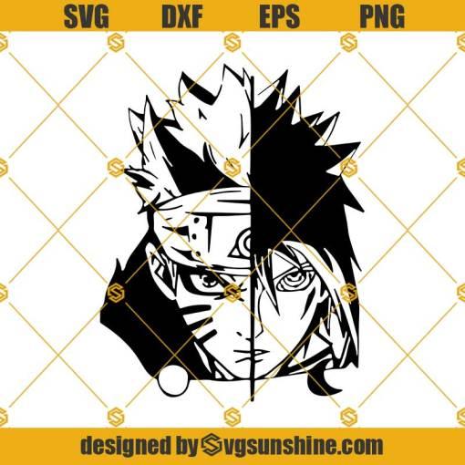 Naruto And Sasuke Svg, Naruto Svg, Sasuke Svg