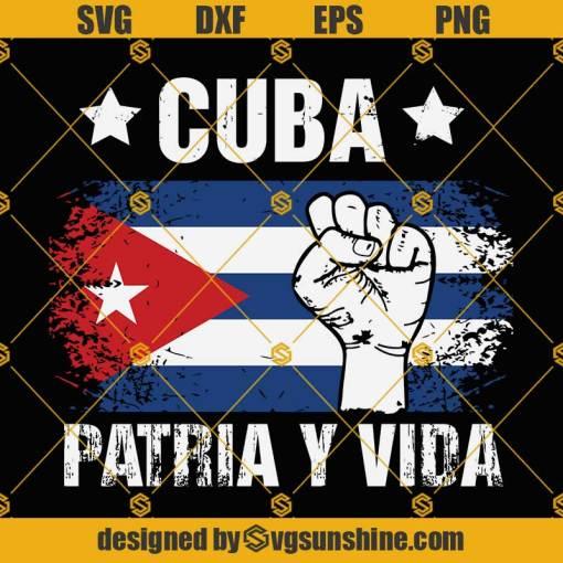 Cuba Patria Y Vida SVG, Cuba Flag SVG