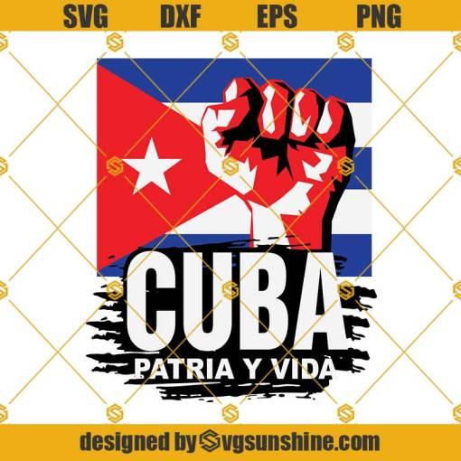 Patria Y Vida SVG, Cuba Flag SVG, Revolution Freedom Movement SVG Digital Download