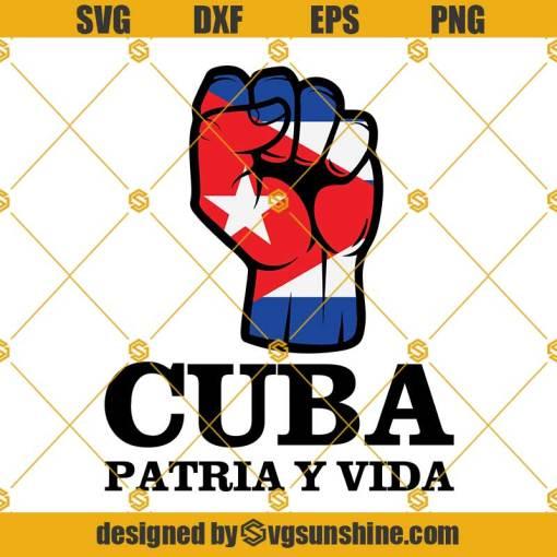 Cuba Patria Y Vida Svg