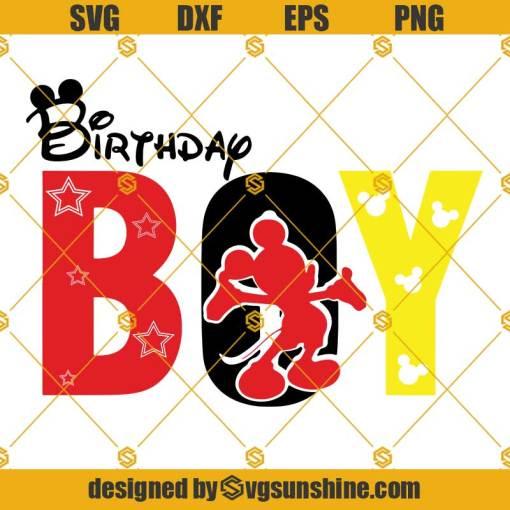 Birthday Boy Svg, Mickey Svg, Birthday Svg, Birthday Boy Mickey Svg