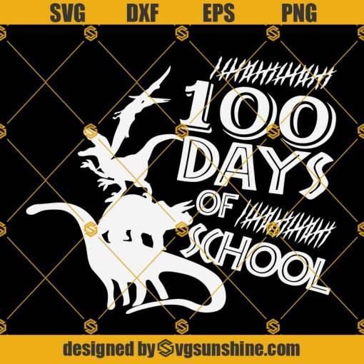 100 Days Of School Svg, 100 Dinosaurs Svg, Back To School Svg