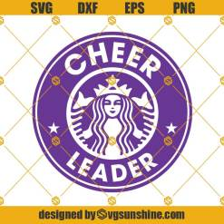 Cheerleader Starbucks Svg, Dance Svg, Cheerleader Coffee Svg