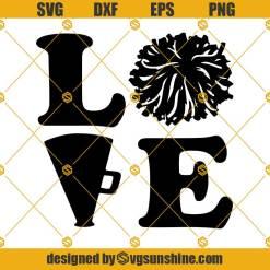 Love Cheer Svg, Cheerleader Svg