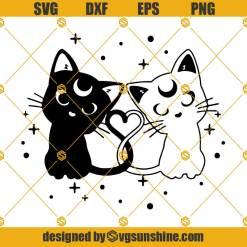 Luna And Artemis Svg, Sailor Moon Svg, Sailor Moon Cat Svg