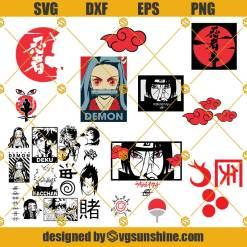 Anime Bundle Svg, Naruto Svg, Akatsuki Svg, Deku Svg, Nezuko Svg, Itachi Svg, Sasuke Svg