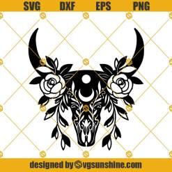 Cow Skull SVG, Cow Svg, Cow Skull Floral Svg
