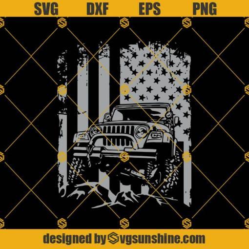 American Flag Jeep Adventure Lifestyle Svg, American Flag 4X4 Jeep SVG, American Jeep Lovers SVG, Jeep Art And US Flag Svg