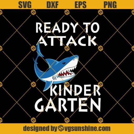 Shark Ready To Attack Kindergarten Svg, Graduation Svg, Kindergarten Svg, Pre K Svg, Back To School Svg