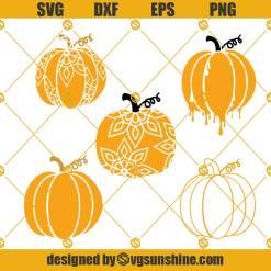 Layered Pumpkin Mandala SVG, Pumpkin SVG, Pumpkin Bundle SVG, Pumpkin Clipart, Pumpkin Dripping SVG