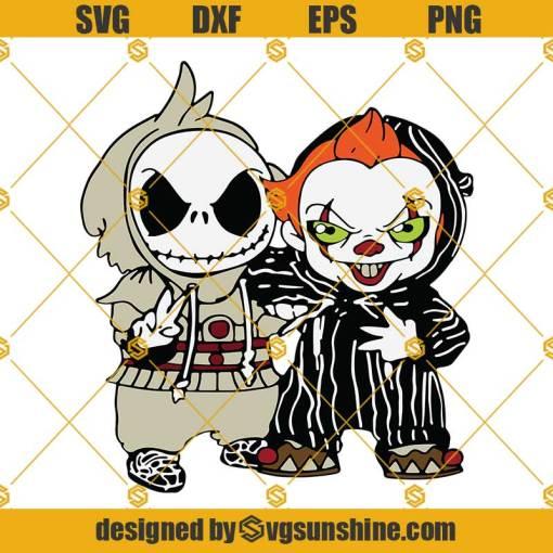 Jack Skellington And Pennywise SVG, Halloween SVG, Jack Skellington SVG