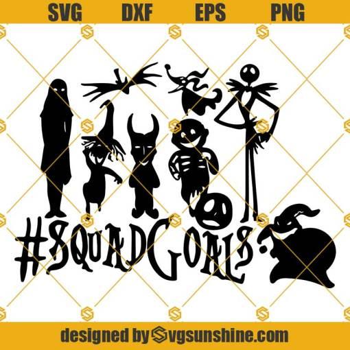 Squadgoals Nightmare Before Christmas SVG, Jack Sally Squadgoals Halloween SVG