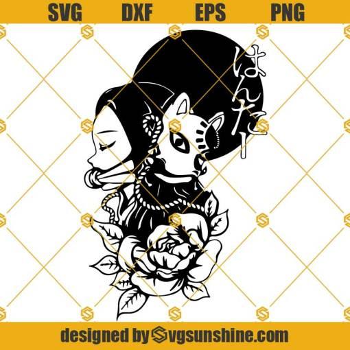Nezuko Anime SVG, Demon Slayer SVG, Anime SVG