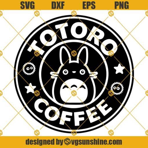Totoro SVG PNG DXF EPS Cut Files Vector Clipart Cricut