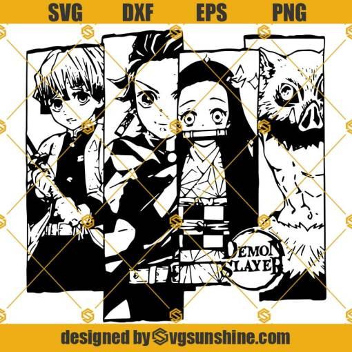 Demon Slayer SVG PNG DXF EPS Cut Files Vector Clipart Cricut Silhouette