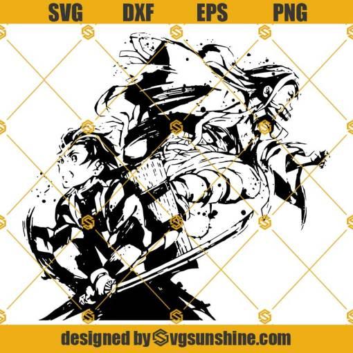 Demon Slayer SVG, Tanjiro SVG, Nezuko SVG, Anime SVG