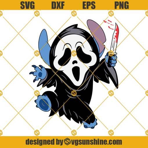 Halloween Stitch SVG Ghost Face SVG, Scream Horror Movie SVG