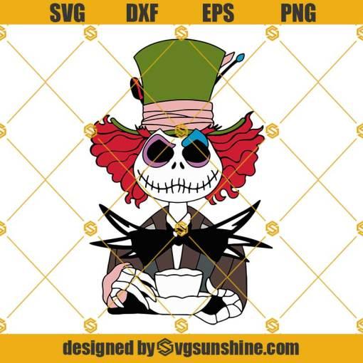 Layered SVG Jack Skellington Skeleton Svg