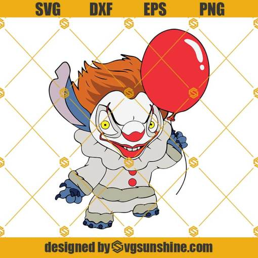 Stitch Pennywise SVG Stitch Halloween SVG