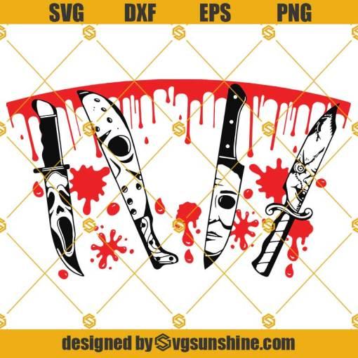 Horror Movie Knife SVG Full Wrap Starbucks, Scary Movie Cold Cup SVG, Horror Movie Knife SVG