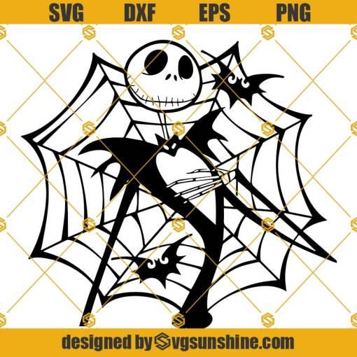 Jack Skellington Spider Web SVG