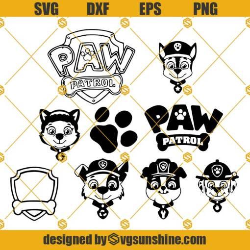 Paw Patrol SVG, Paw Patrol Bundle, Paw Patrol Vector