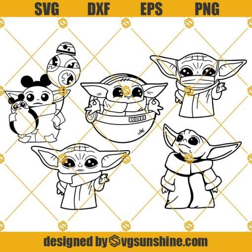Baby Yoda SVG Bundle