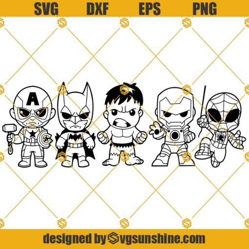 Friends Superheros SVG, Superheros SVG PNG DXF EPS Cricut