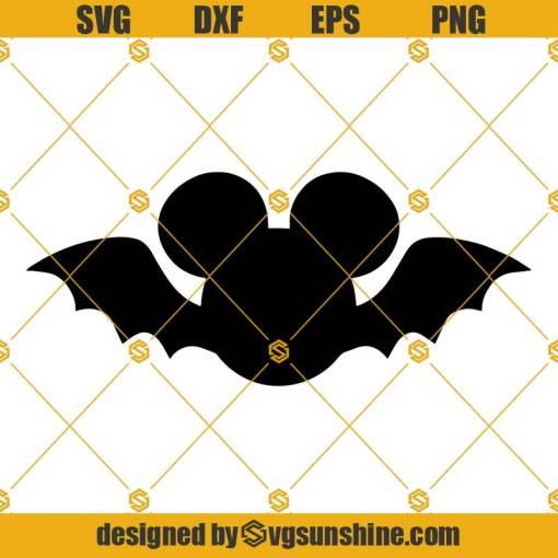 Halloween Mickey Mouse Bat SVG
