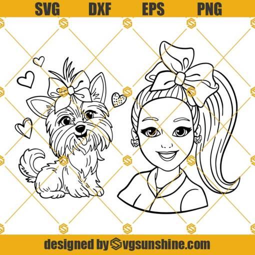 Jojo Siwa SVG PNG DXF EPS Cut Files Vector Clipart Cricut Silhouette