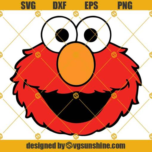 Red Cookie Monster SVG PNG DXF EPS Cut Files Vector Clipart Cricut Silhouette
