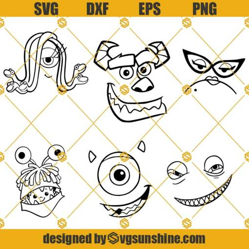 Sully Monsters Inc SVG, Mike Face Sully SVG