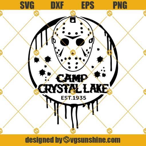 Camp Crystal Lake SVG, Jason Mask SVG, Hockey Mask SVG Jason Voorhees SVG Friday The 13th SVG Halloween SVG