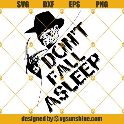 Freddy Krueger SVG, Don't Fall Asleep SVG Freddy SVG Nightmare SVG