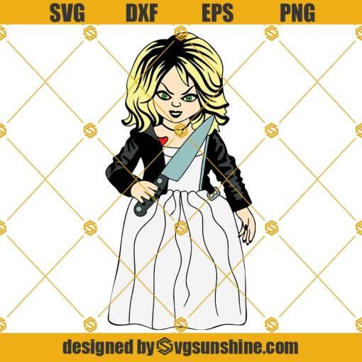 Tiffany SVG, Horror Tiffany SVG, Tiffany Knife SVG, Chucky and Tiffany SVG, Halloween Tiffany SVG