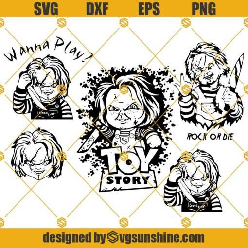 Chucky SVG Bundle, Chucky Child's Play SVG, Chucky Toy Story SVG Bundle Pack Cut Files