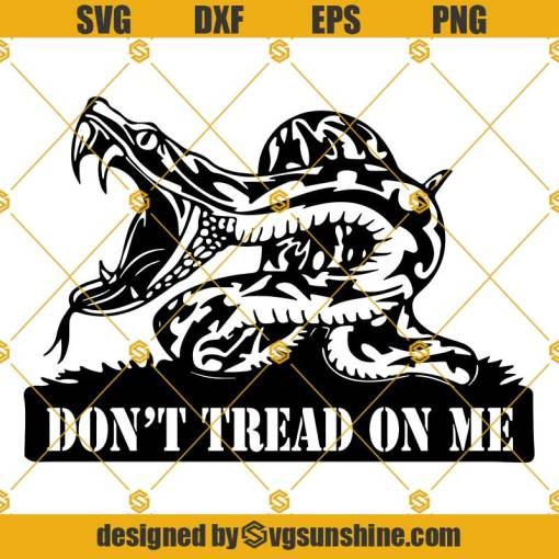 Dont Tread On Me SVG, Snake SVG
