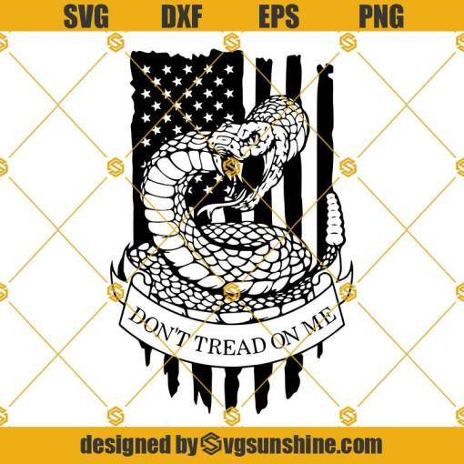 Gadsden Flag SVG, Don't Tread on Me SVG, 2nd Amendment SVG