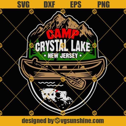 CAMP CRYSTAL LAKE SVG, Jason Voorhees SVG, Halloween SVG