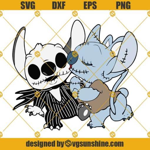 Jack Skellington And Stitch SVG Jack Skellington SVG Stitch Halloween SVG