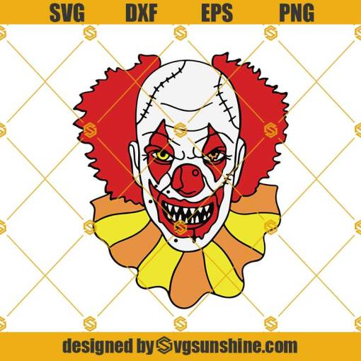 Pennywise Clown SVG, Halloween Horror Movie It SVG, The Dancing Clown SVG